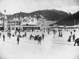 Alpine Ice Rink Papier Photo