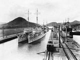 Destroyers on the Panama Canal Photographic Print