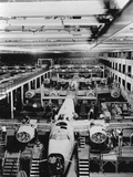 Assembly of B-24 Bombers at Willow Run Plant Photographic Print