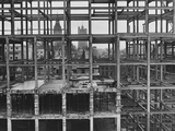 Construction of Government Offices Photographic Print