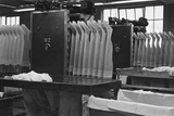 Stockings at a Clothing Factory Photographic Print