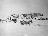 Shackleton's Base Camp on the Ross Ice Shelf Photographic Print