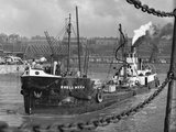 Tanker Leaves Liverpool Docks Photographic Print