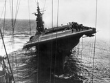 Damaged U.S. Aircraft Carrier Franklin Photographic Print