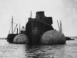 Re-Floating German Battleship, Scapa Flow Photographic Print
