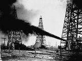 Oil Gushing from Spindletop Hill in Beaumont, Texas Photographic Print