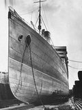 RMS Aquitania in Dry Dock Photographic Print