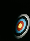 Target Archery Bullseye Dartboard Retro Photographic Print