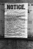 Evacuation Notice Photographic Print