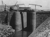 Aswan Dam Locks under Construction Photographic Print