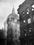 Saint Paul's Cathedral Admist Ruins Photographic Print