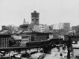 Elevated Railroad in New York City Reproduction photographique