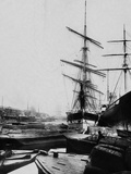 Ships in London Docks Photographic Print
