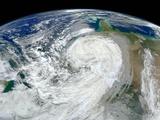 Satellite View of Hurricane Sandy Photographic Print