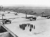 Planes on the Landing Strip at Le Bourget Photographic Print