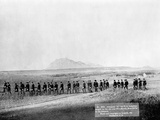 U.S. Infantry Marching Near Fort Meade Photographic Print