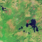 Satellite View of Yellowstone National Park Photographic Print