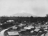 Parihaka in Shadow of Mt Egmont Photographic Print