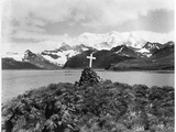Shackleton's Grave at Grytviken Photographic Print
