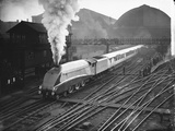 Silver Link Train Leaves King's Cross Station Photographic Print