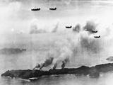 Bombing Haha-Jima Photographic Print