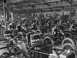 Morris Motors Automobiles in Production Photographic Print