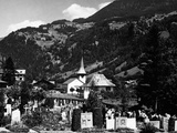 A Cemetery in Lauterbrunnen Photographic Print