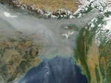 Haze and Smog over Bangladesh and Northern India Photographic Print