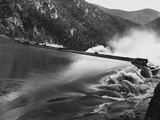Burrinjuck Dam During Flood Photographic Print