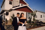 1990s Young Teen Couple Dressed Up for School Prom Photographic Print