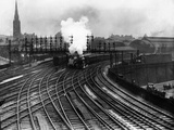Steam Trains Depart from Newcastle Station Photographic Print