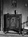 Stand Radio in Living Room Photographic Print