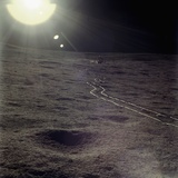 Wheel Tracks on the Surface of the Moon Photographic Print