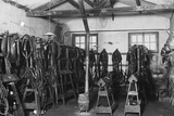 Riding Equipment at the Levaller's Depot of the Jeaux Brothers Photographic Print