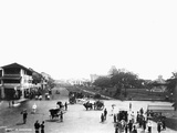 Nineteenth Century Street Scene in Singapore Photographic Print