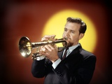 1950s-1960s Bearded Man Playing Trumpet Photographic Print