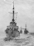 German Minesweepers in Swedish Waters, 1940 Photographic Print