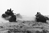 Israeli Tanks Riding Through Egyptian Desert Photographic Print