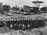 Construction of a Kenyan Railroad Photographic Print