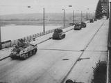 Tanks Cross Nijmegen Bridge Photographic Print