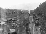 Construction of Panama Canal Photographic Print