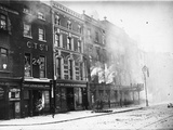 Gresham Hotel on Fire Photographic Print