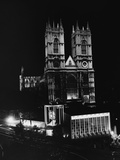 Westminster Abbey Floodlit Photographic Print