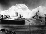 Ocean Liners in New York Port Photographic Print