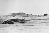 Missiles on Transporters in Desert During Yom Kippur War Photographic Print