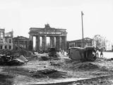 Brandenburg Gate, Berlin 1945 Stampa fotografica