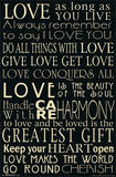 Words of Love Romance Prints
