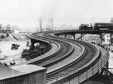 Elevated Railroad Photographic Print
