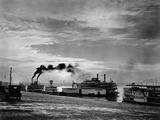Steamships on the Ohio River Photographic Print