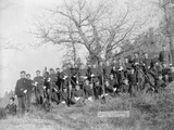 U.S. Infantry Resting Near Fort Meade Photographic Print